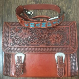 Custom made western cross body messenger bag
